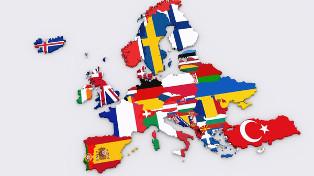 European Flag Map